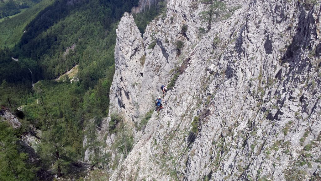 Hannes and Nader in the traverse (B)