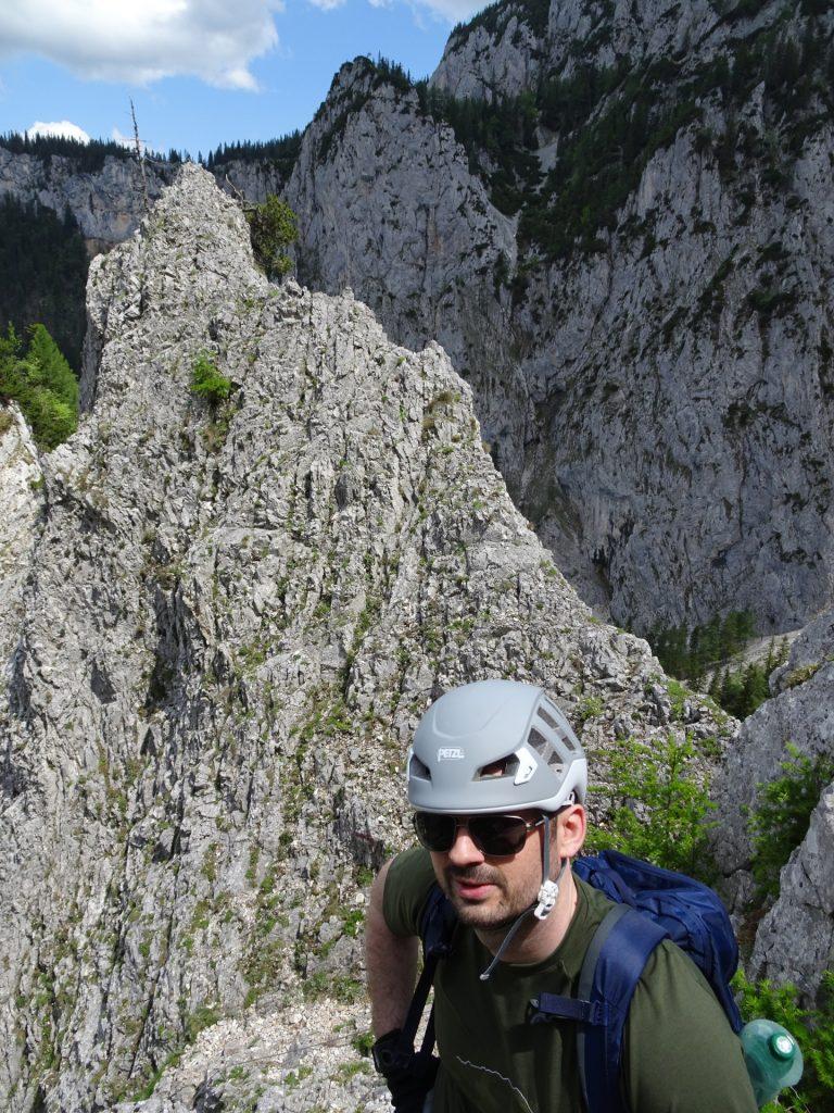 Predrag enjoys the climbing part