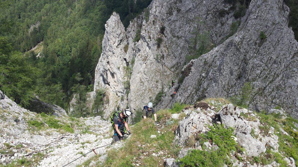 Stefan and Predrag climbing up Wildfährte