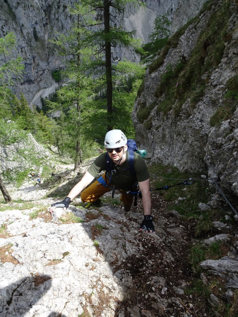 Predrag is getting confident in climbing