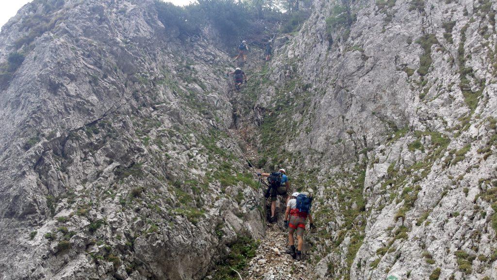 Climbing up the Bärenlochsteig