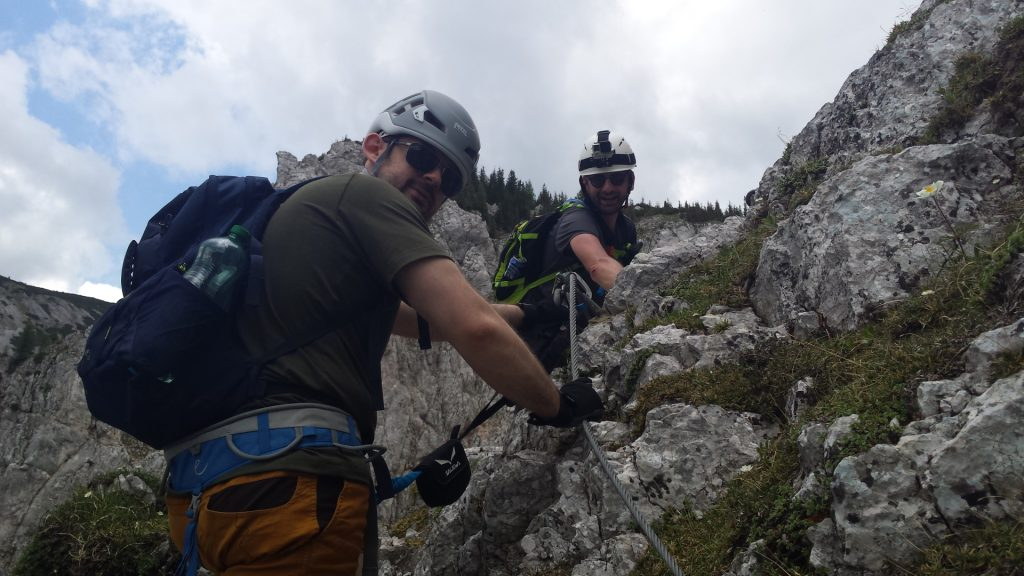 Predrag and Stefan mastered the chimney and the following climb