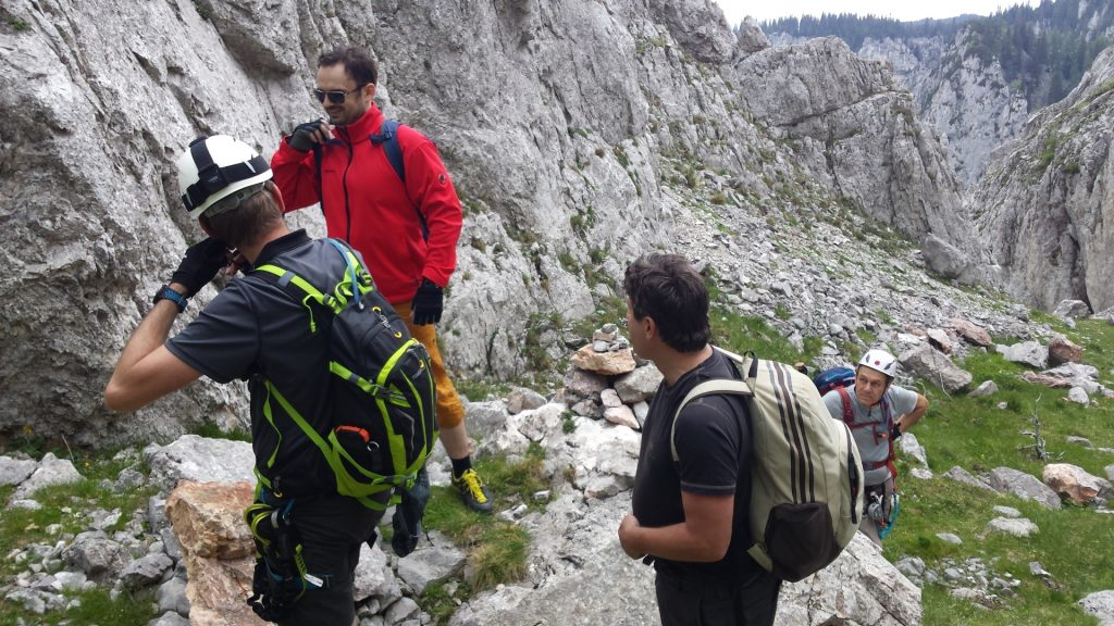 At the end of the via ferrata