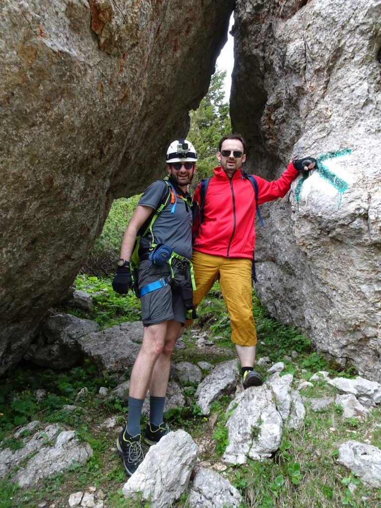 """Stefan and Predrag posing at the """"Tor"""""""