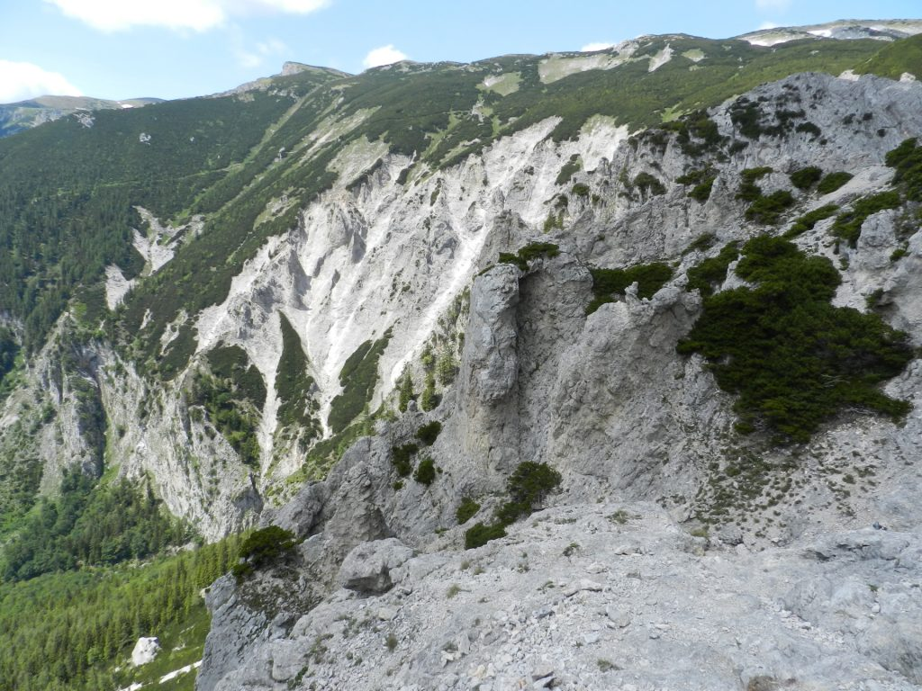 View towards Heukuppe from the end of the lower part of Haidsteig
