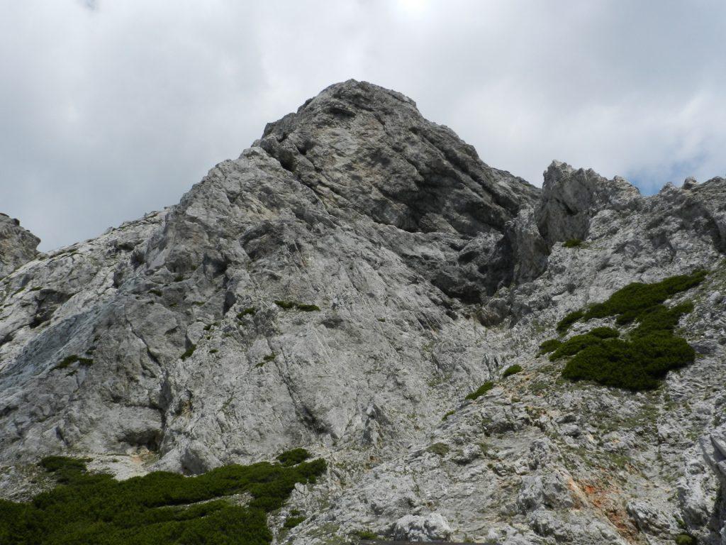 Looking up the Preinerwand (upper part of Haidsteig)