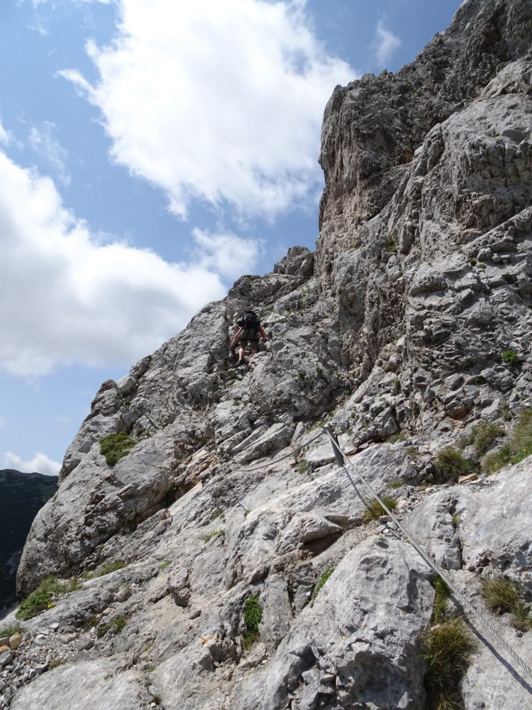 The upper part of Haidsteig (fairly easy, B)