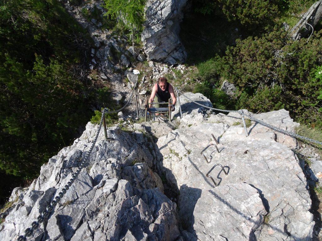 Hannes climbs the Entenhügel