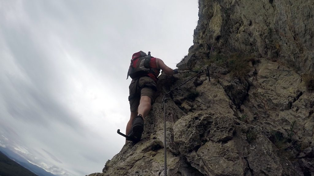 Hannes continues climbing