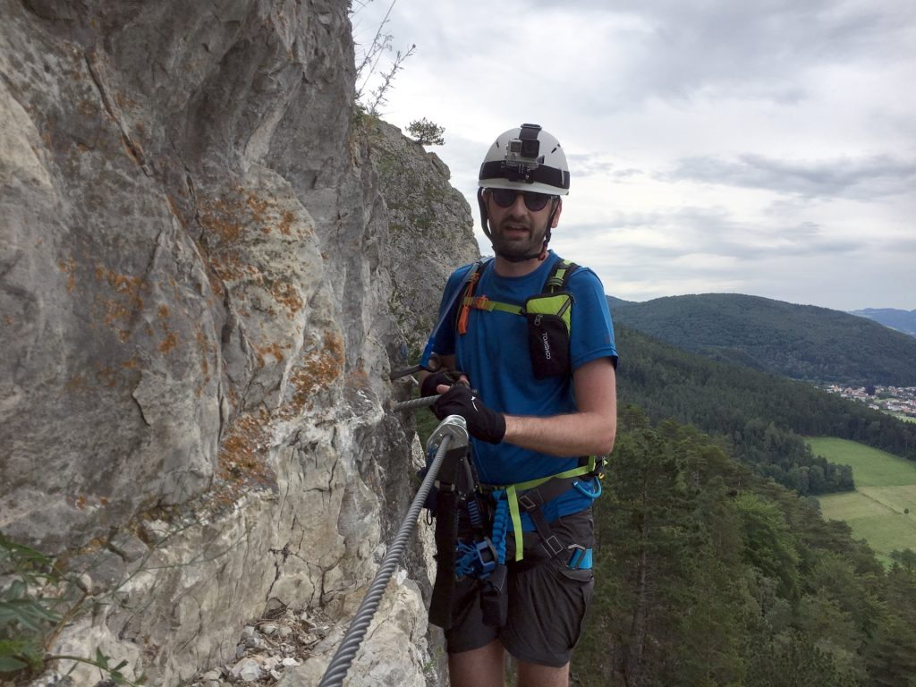 Picture taken by Hannes at the exposed traverse