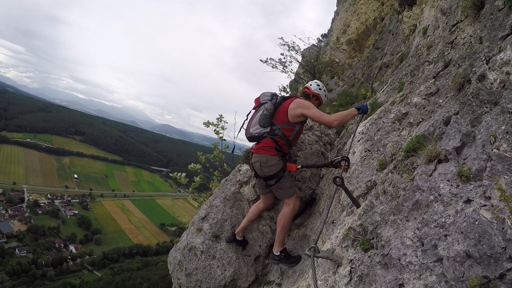 Hannes approaching the last, steep part (C/D)