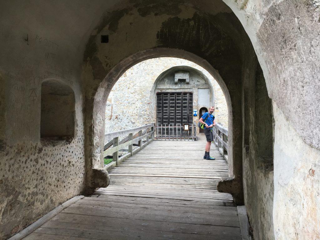 Stefan inspecting the castle of Seebenstein