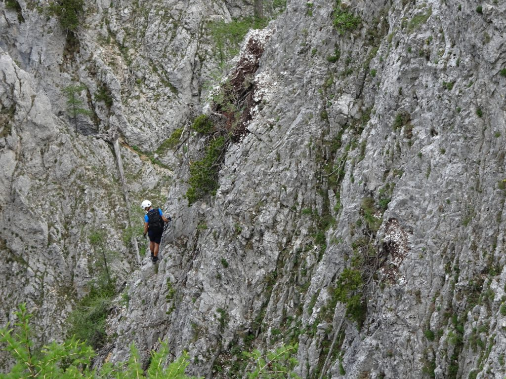 Looking back at the traverse of Wildfährte