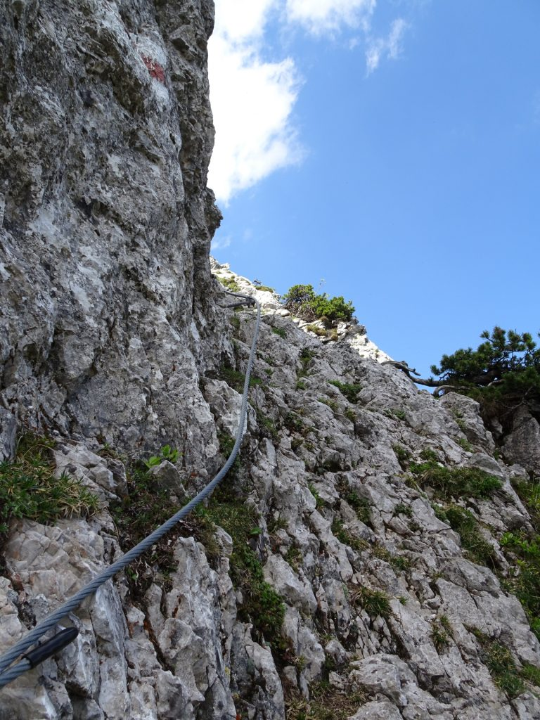 Climbing passage at the upper part of Wildfährte