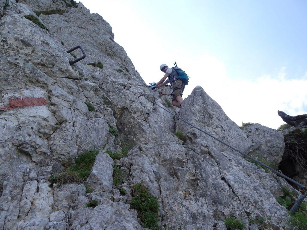 Herbert continues climbing