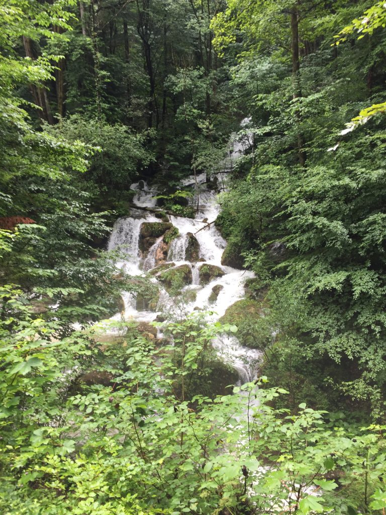 Waterfall at the trail towards Bärenschützklamm