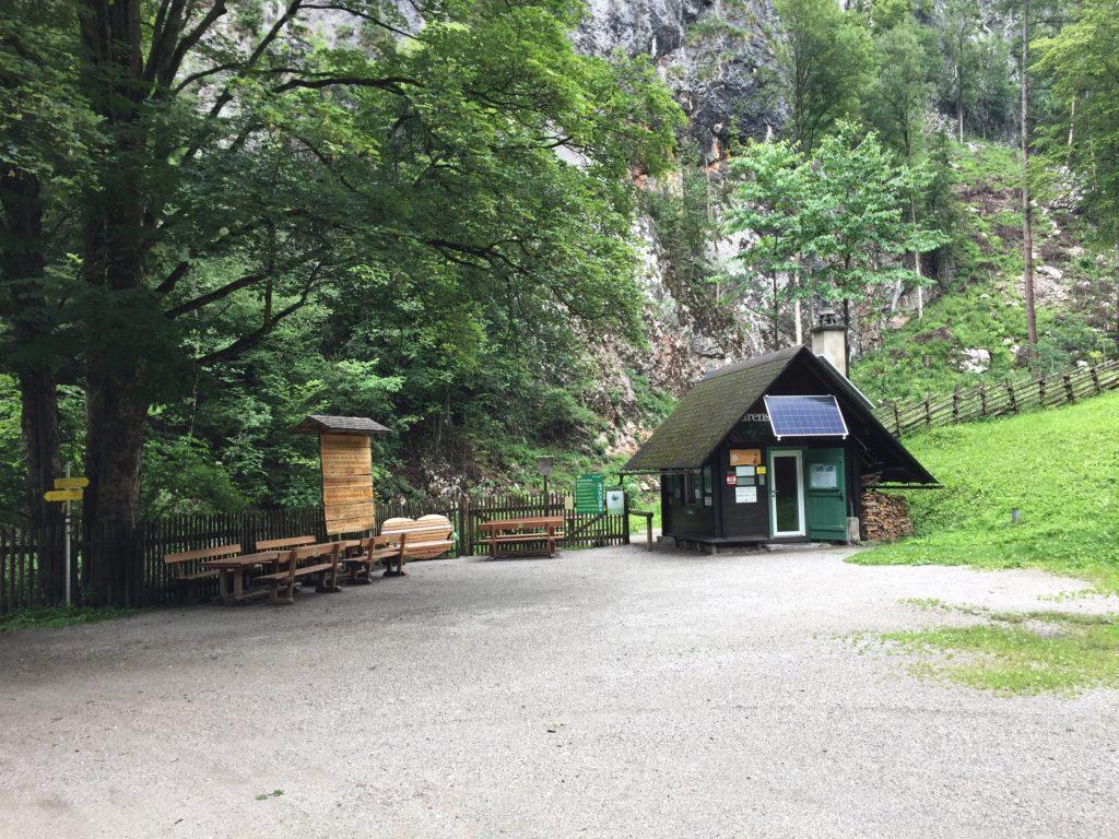 Toll house at the entrance of Bärenschützklamm (entrance fee 5 EUR)