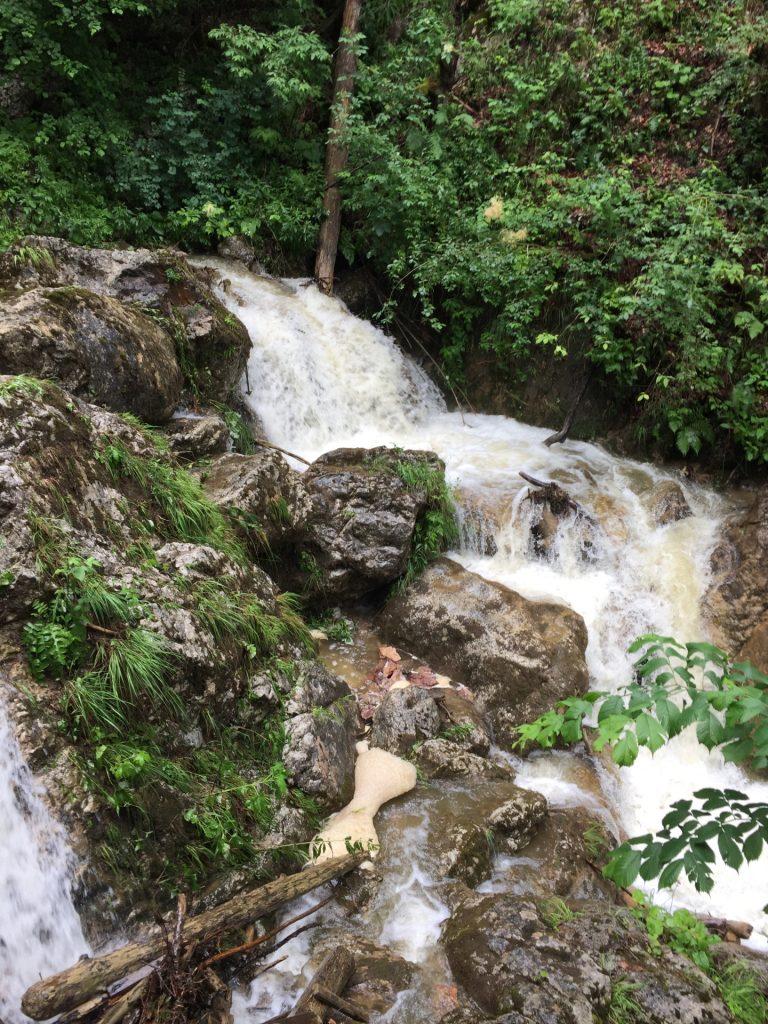 "The ""Mixnitzbach"" river that flows through the flume"