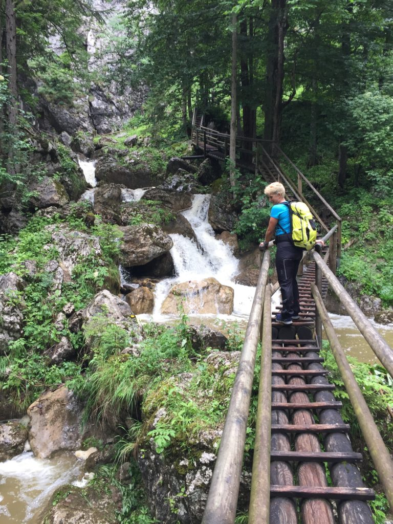 Nadja is impressed by the many waterfalls