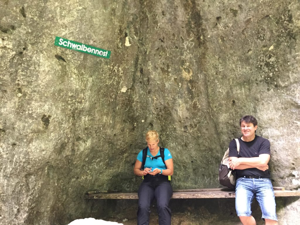 """Nadja and Robert at the \""""Schwalbennest\"""" rest area"""