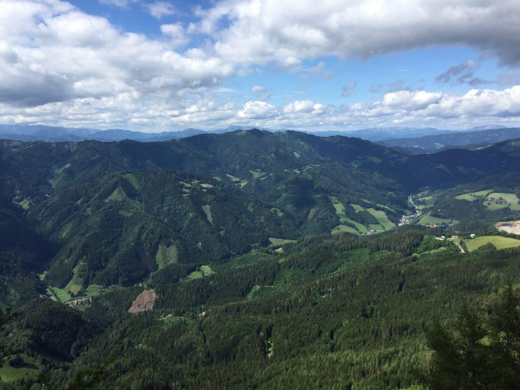 """View from the terrace of """"Steirischer Jokl"""""""
