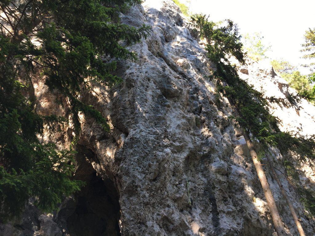 The climbing area next to Bärenschützklamm