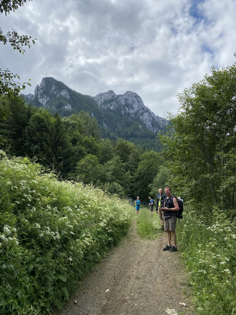 The team on the trail towards Hochlantsch