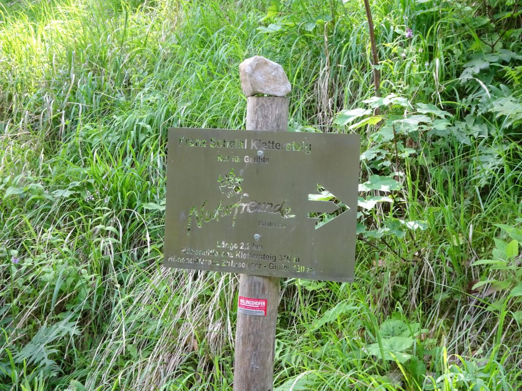 Follow signpost towards the via ferrata