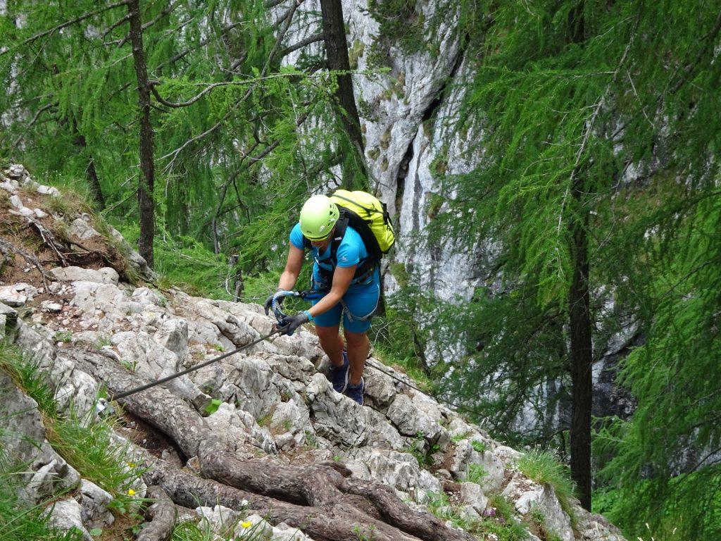 Nadja climbing