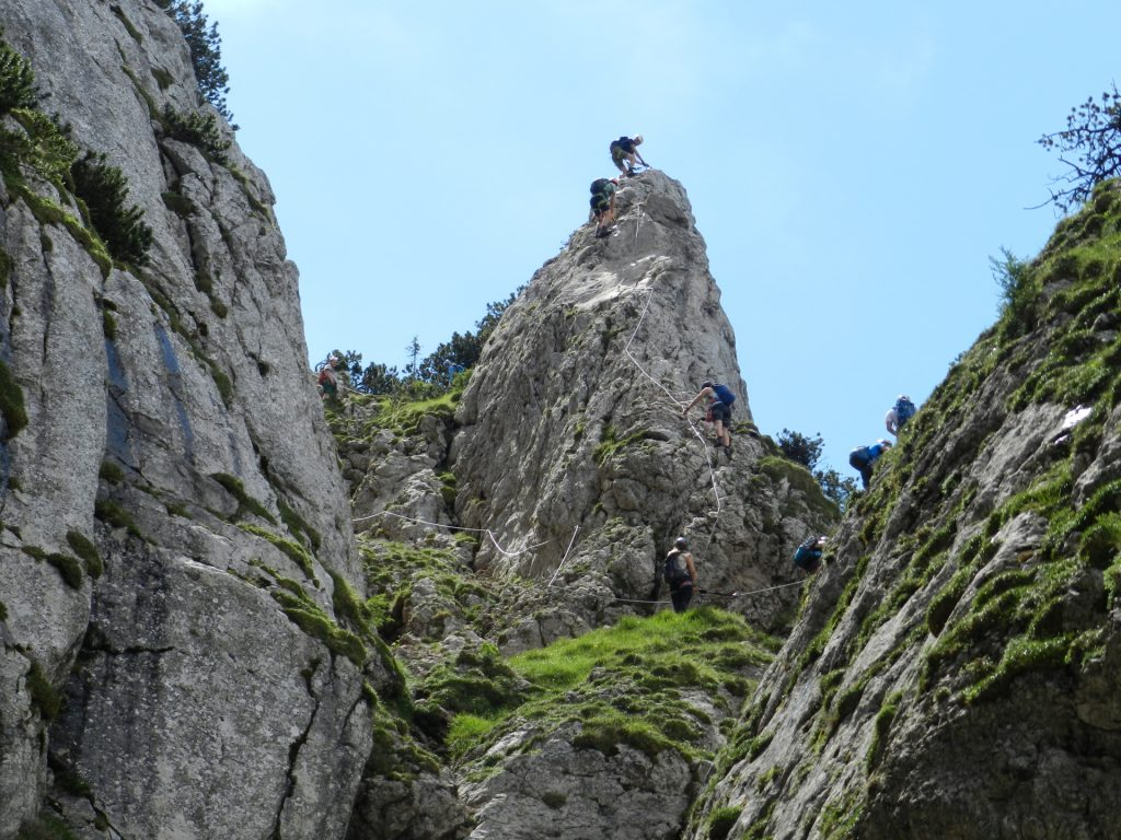 The crux of the ferrata (C/D)