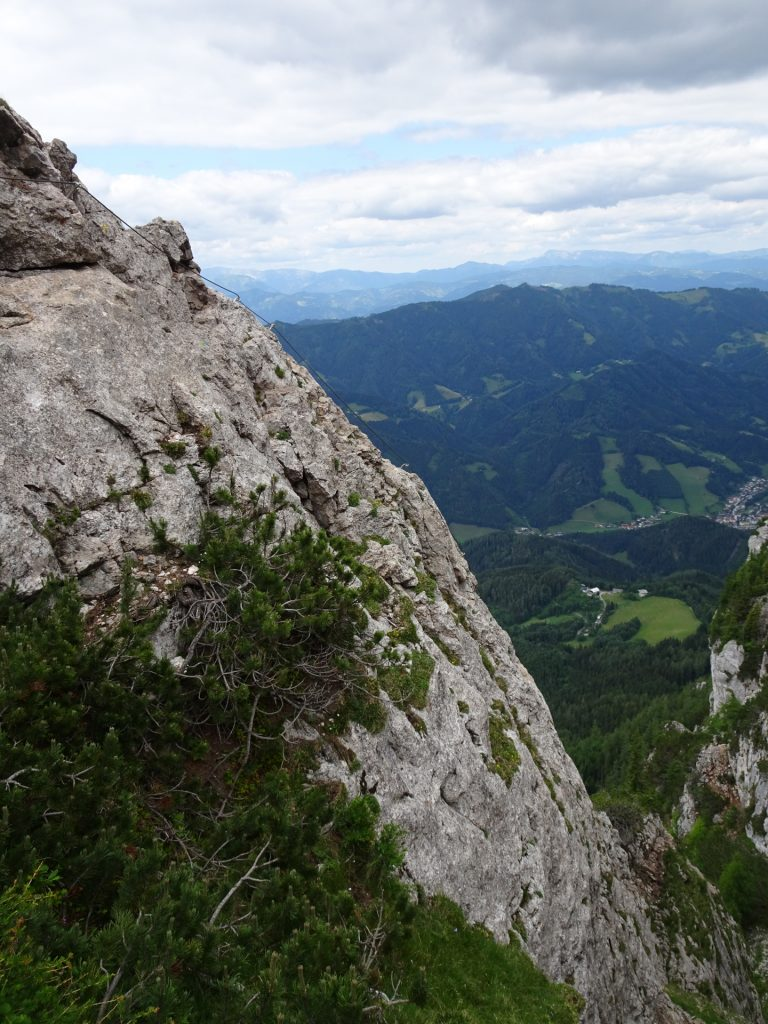The crux of Franz-Scheikl-Steig