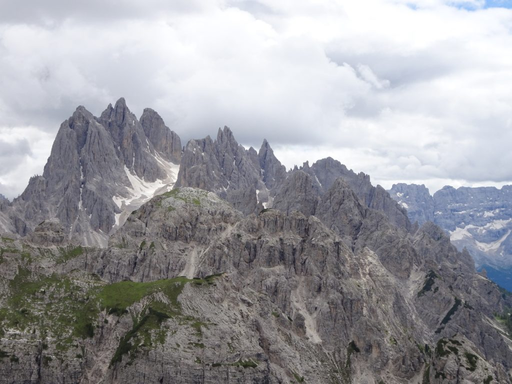 Beautiful Dolomites seen from the parking