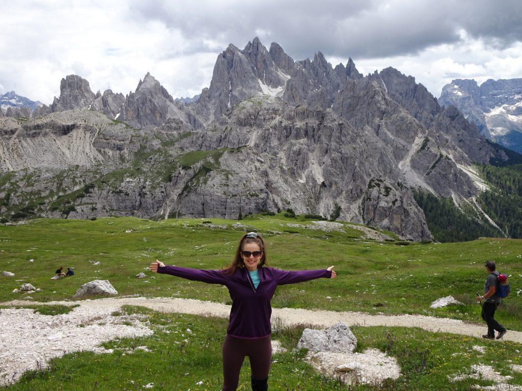 Debora enjoys the hike as well