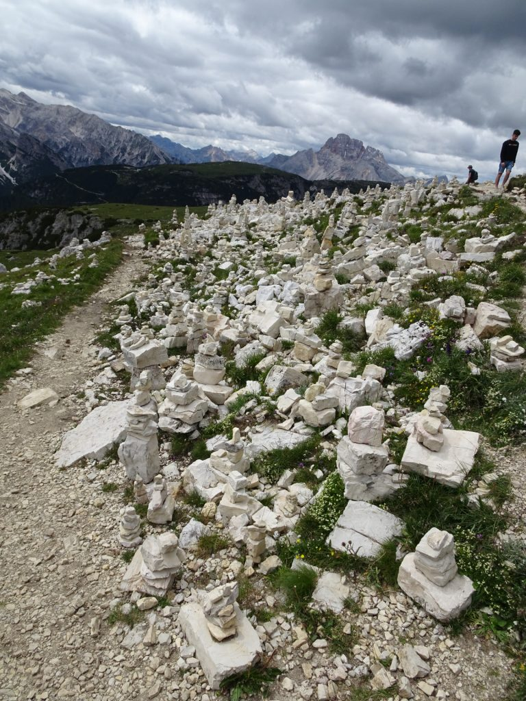 Stone sculptures on the trail