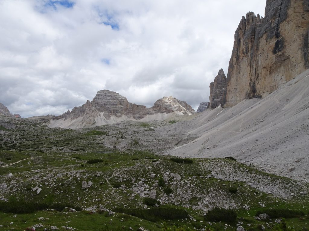 """On the trail around the """"tre cime"""""""
