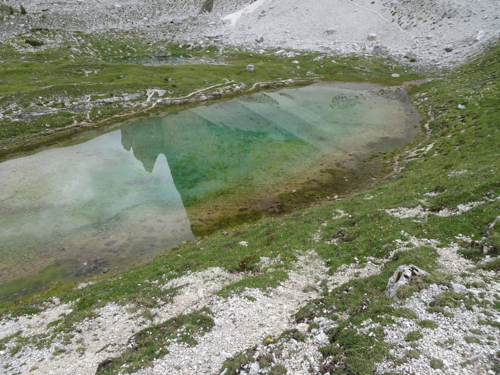 """One of the small ponds in front of the """"tre cime"""""""