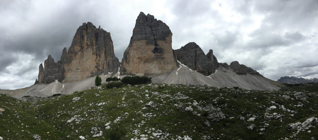 """Panoramic view of the """"tre cime"""""""
