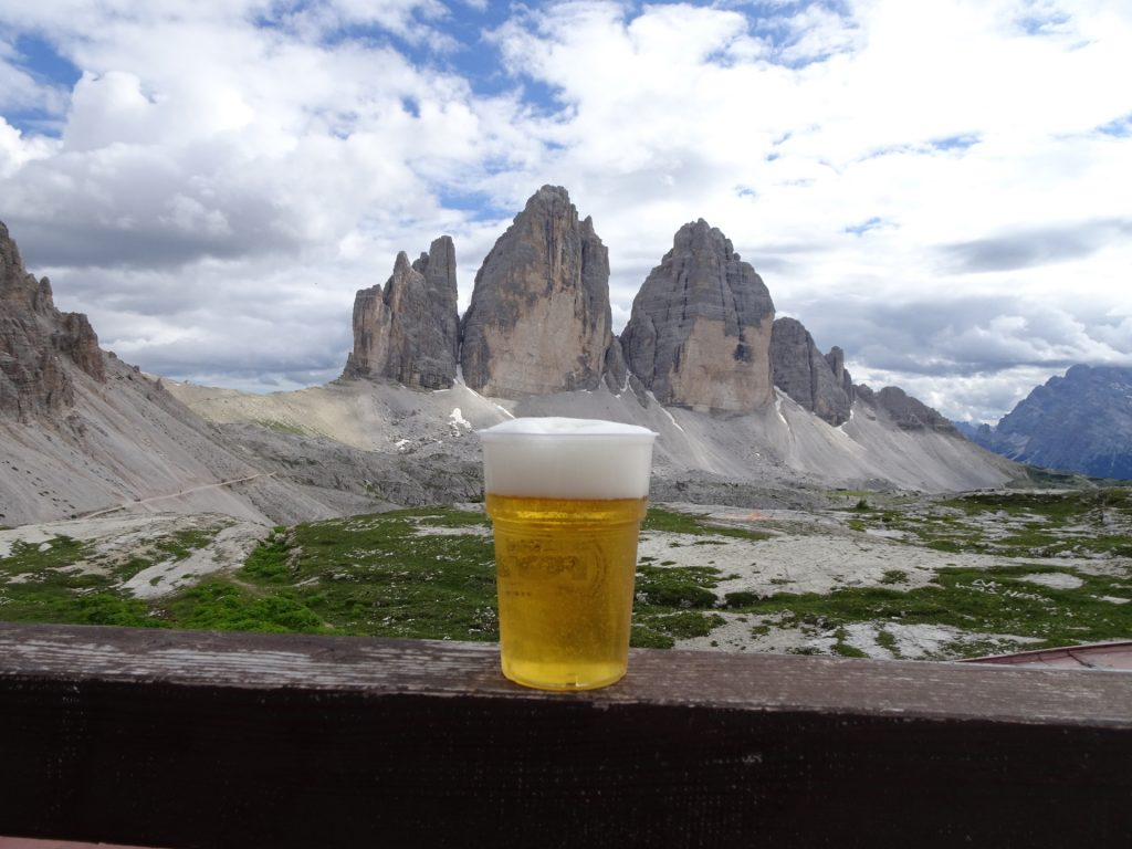 """A tasty view towards the """"tre cime"""""""