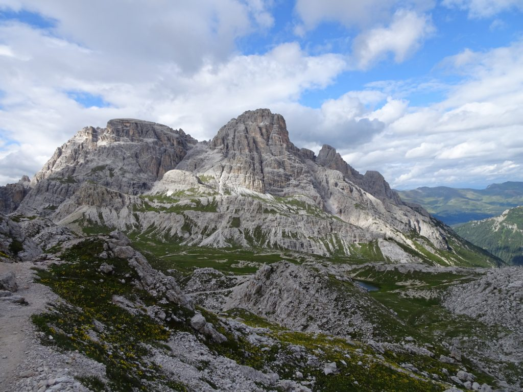 """View from the trail towards """"Paternkofel"""""""