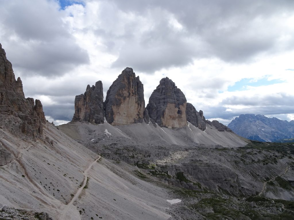 "View towards the ""tre cime"""