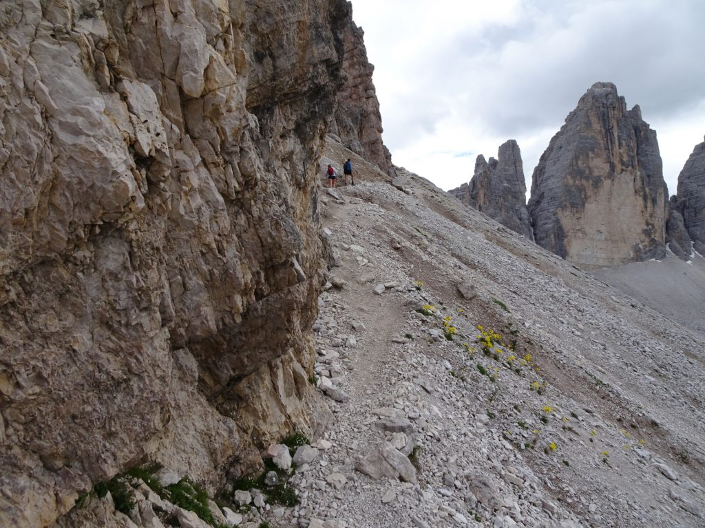 The narrow and challenging trail back to the parking