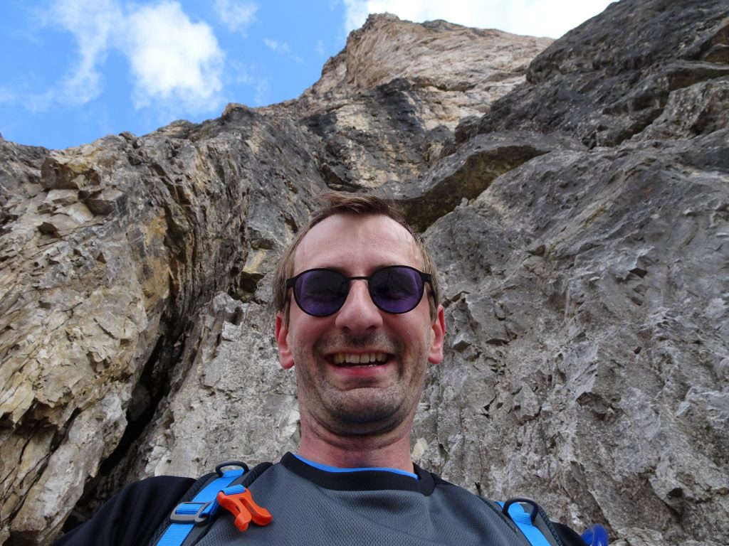 """Managed to climb some meters on the first of the """"tre cime"""""""