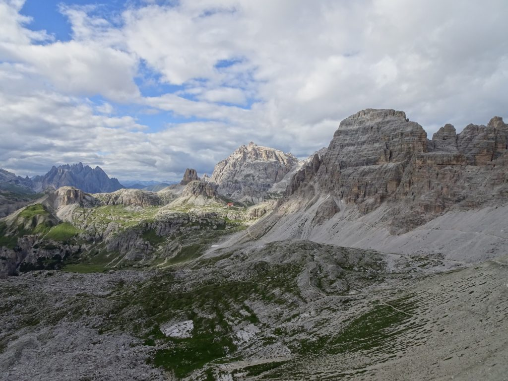 """View back from the """"tre cime"""""""