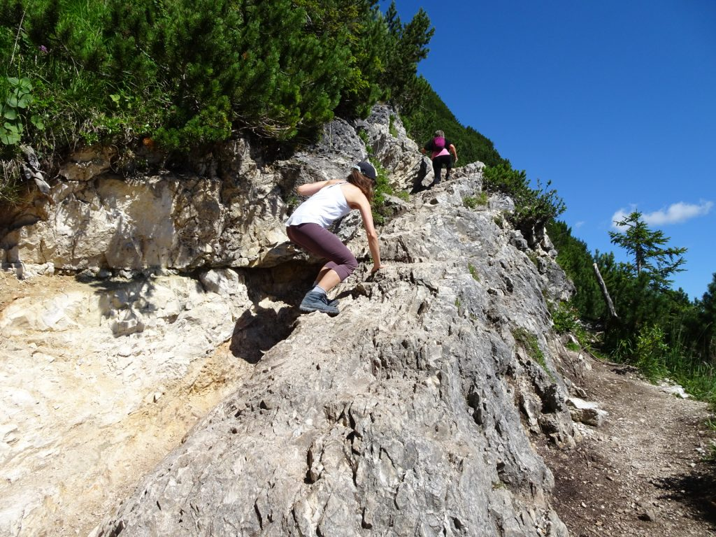 The first (easy) climbing part (I-)