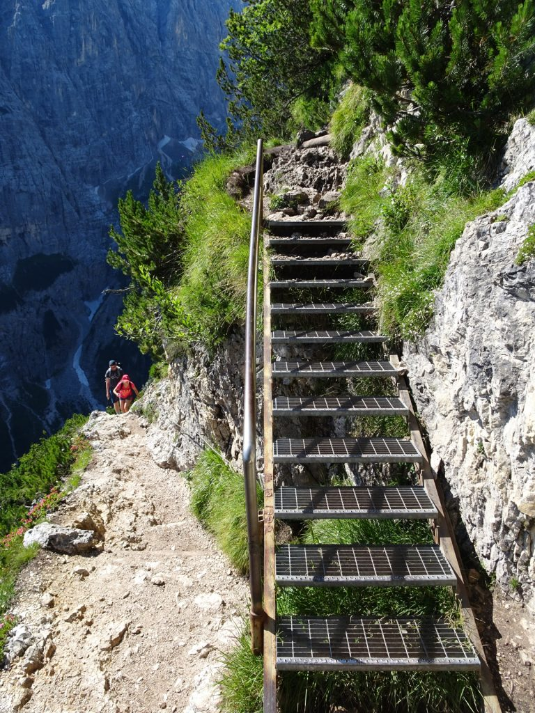 Iron ladder leads up the way