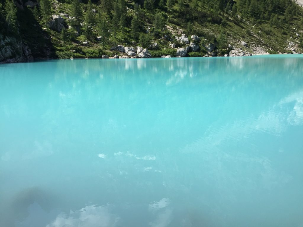 Amazing colour of the lake