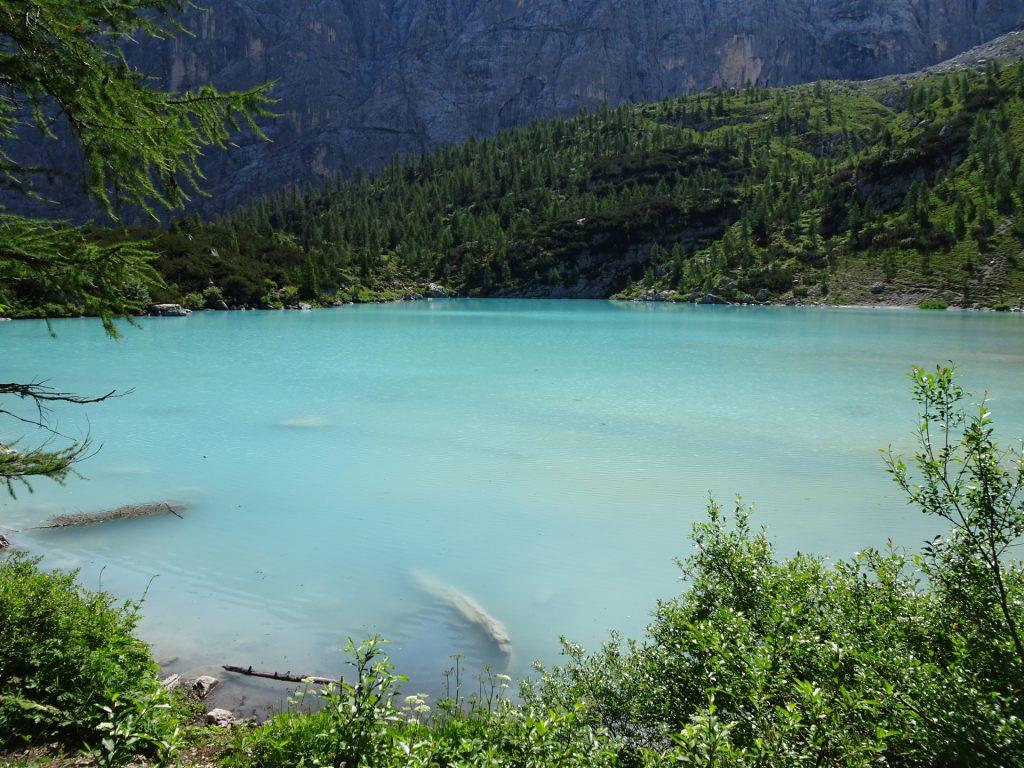 """At the rear shore of the """"Sorapis lake"""" (Largo del Sorapis)"""