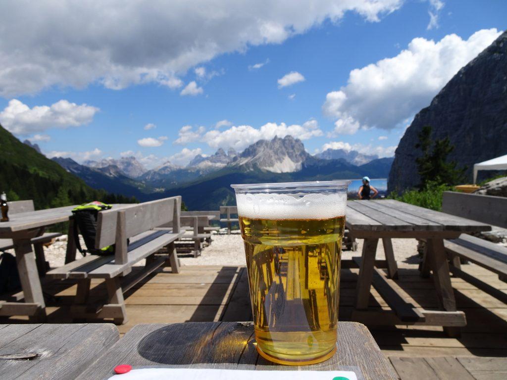 "A well deserved refreshment at ""Rifugio Vandelli"""