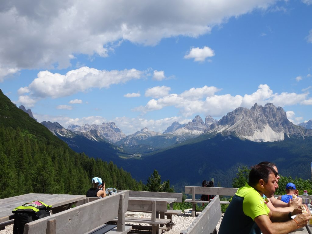 """Stunning view from the terrace at """"Rifugio Vandelli"""""""