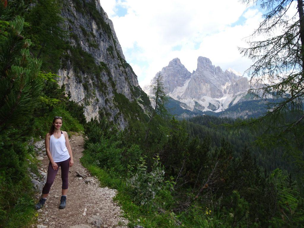 Debora enjoys the hike